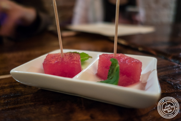 Sangria infused watermelon at Nai Tapas Bar in the East Village