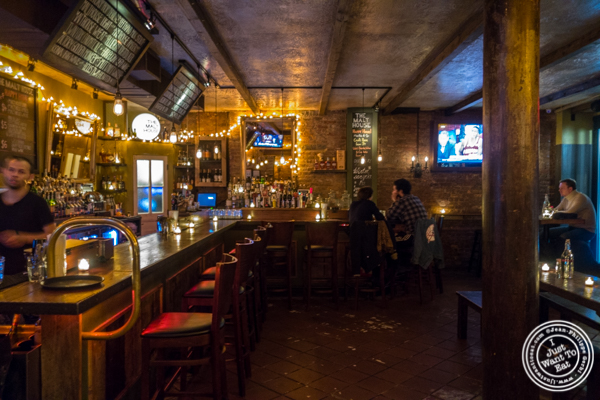 Bar at The Malt House in Greenwich Village