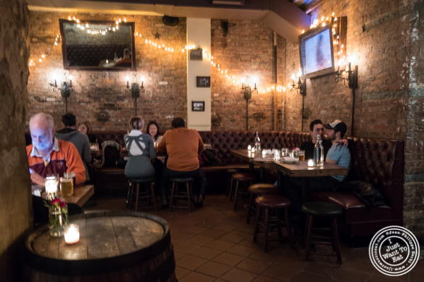 Dining room at The Malt House in Greenwich Village