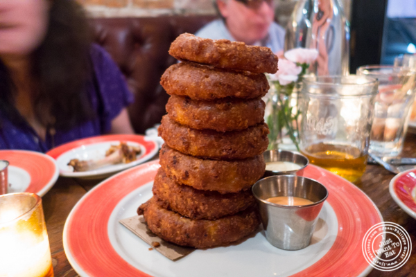 Onion rings at The Malt House in Greenwich Village