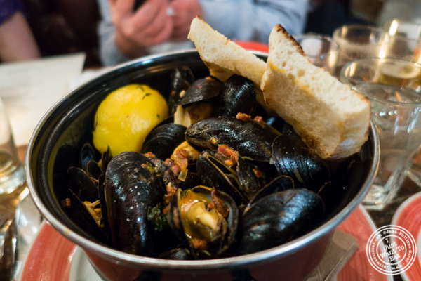 Steamed mussels at The Malt House in Greenwich Village