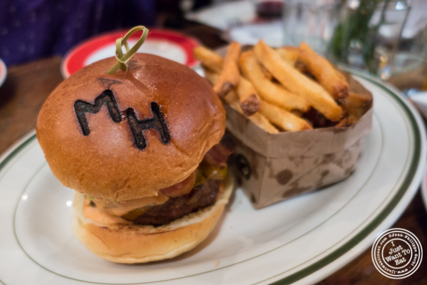 Burger and fries at The Malt House in Greenwich Village