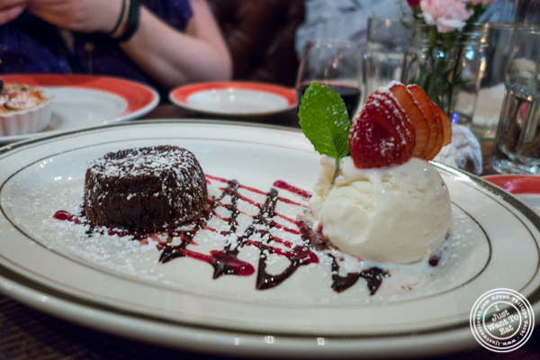 Chocolate cake at The Malt House in Greenwich Village