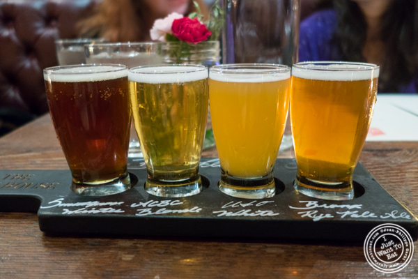 Beer flight at The Malt House in Greenwich Village