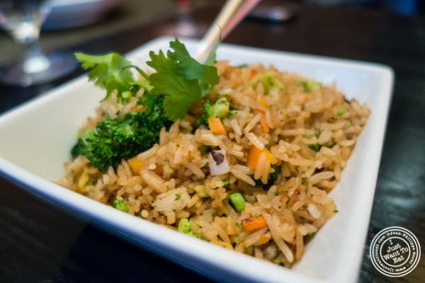 Five vegetables fried rice at China Grill in NYC, New York