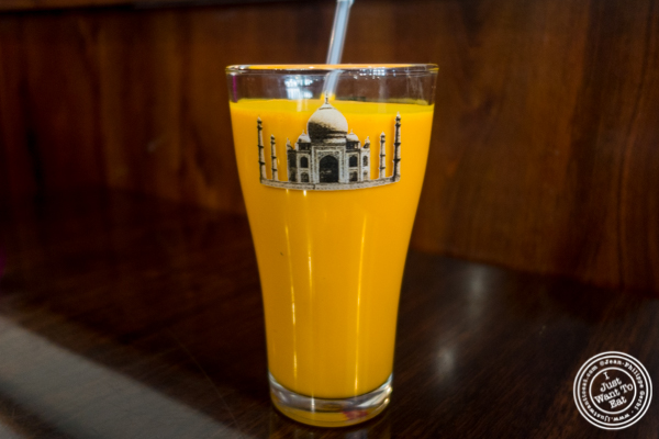 Mango lassi at Kailash Parbat in Curry Hill, NYC, New York