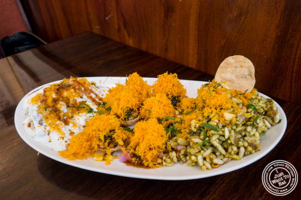 Chaat platter at Kailash Parbat in Curry Hill, NYC, New York