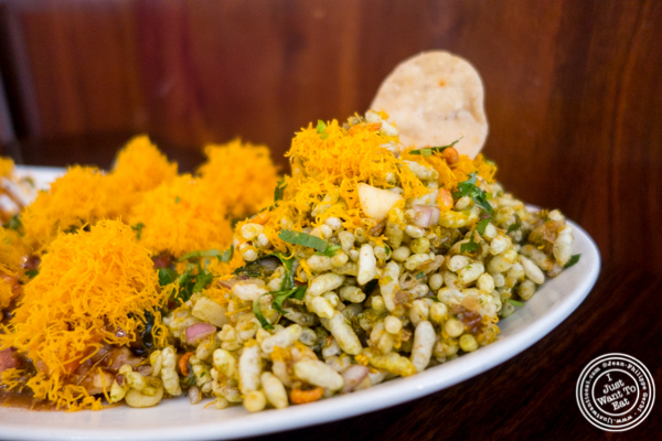 Bhel puri at Kailash Parbat in Curry Hill, NYC, New York