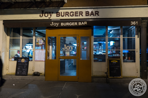 Joy Burger Bar in Greenwich Village, NYC, NY
