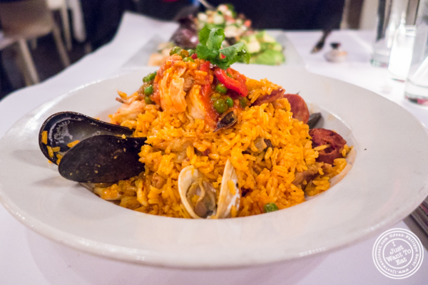 Paella at Sazon in TriBeCa, NYC, New York