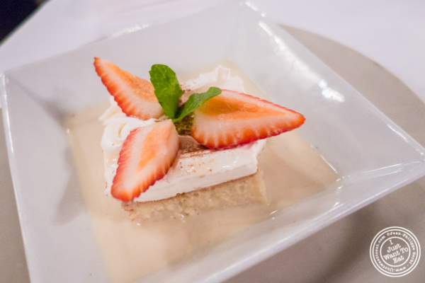 Tres leches at Sazon in TriBeCa, NYC, New York