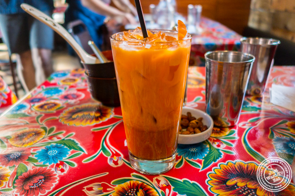 Thai iced tea at Pok, Pok in Brooklyn, NY