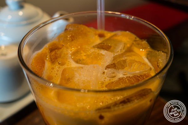 Thai iced tea at Thai Select in Hell's Kitchen, NYC, New York