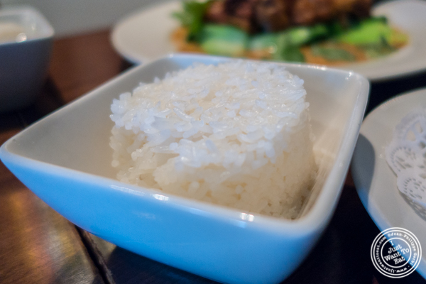 White rice at Thai Select in Hell's Kitchen, NYC, New York
