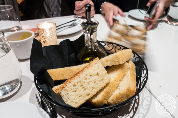 Spanish bread and olive oil at Andanada 141 in NYC, New York