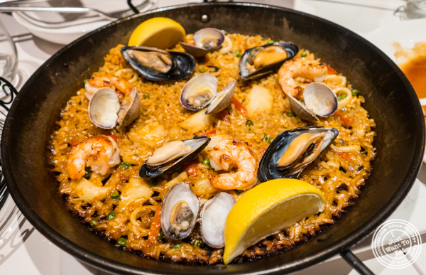Paella de Mariscos at Andanada 141 in NYC, New York