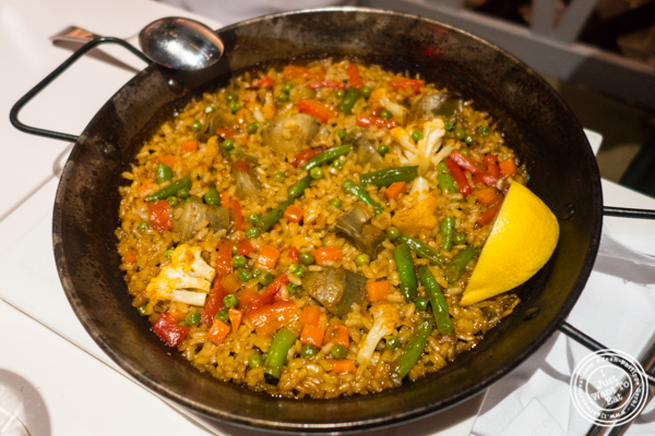 Vegetarian paella at Andanada 141 in NYC, New York