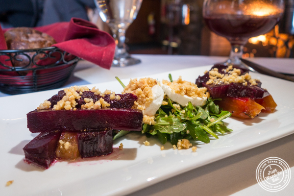 Beets and goat cheese salad at The Stone House at Clove Lakes in Staten Island, NY