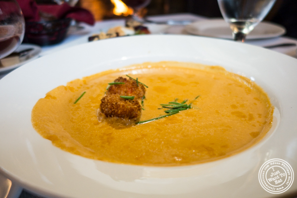 Lobster bisque at The Stone House at Clove Lakes in Staten Island, NY