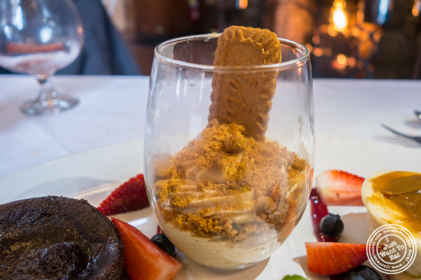 Cookie butter mousse at The Stone House at Clove Lakes in Staten Island, NY
