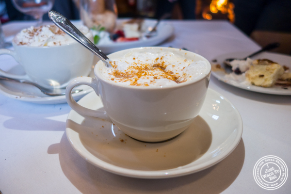 Cookie butter cappucino at The Stone House at Clove Lakes in Staten Island, NY