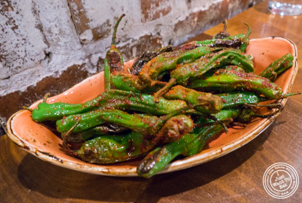 Shishito peppers at TESSA, Upper West Side, NYC, New York