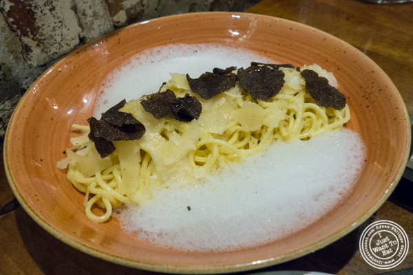 Truffle linguine at TESSA, Upper West Side, NYC, New York