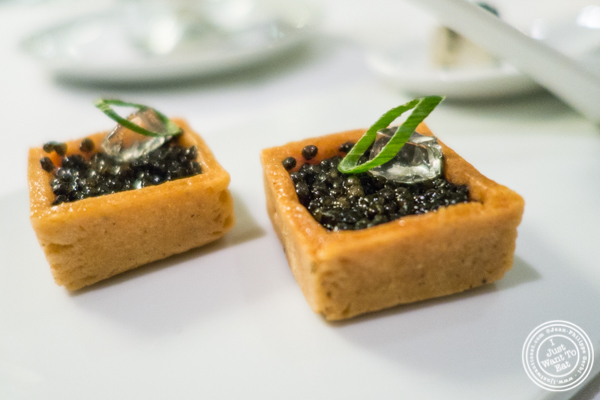 Lime tartare and caviar at Petrossian in NYC, New York