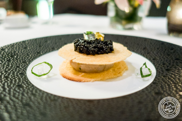 Langoustine tartare with caviar at Petrossian in NYC, New York