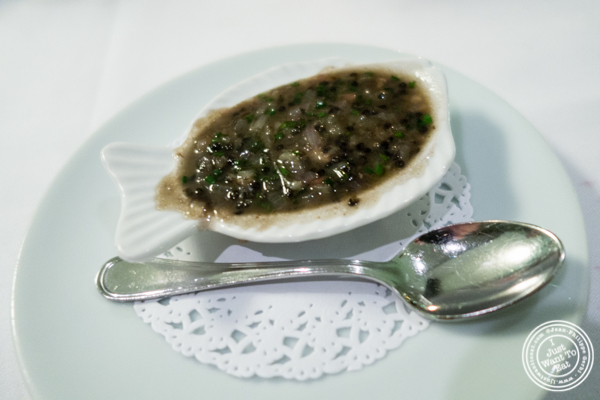 Bone marrow and caviar sauce at Petrossian in NYC, New York
