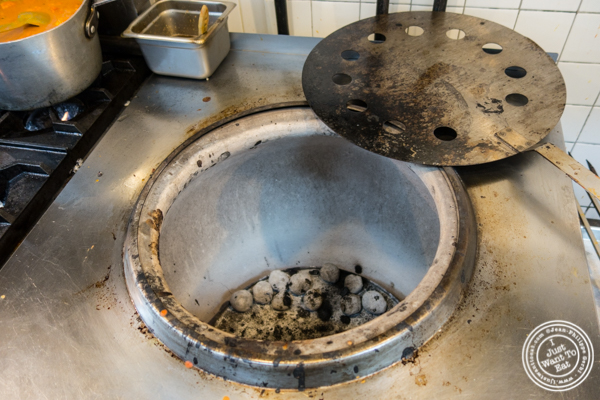 Tandoor oven at The Royal Munkey in NYC, New York