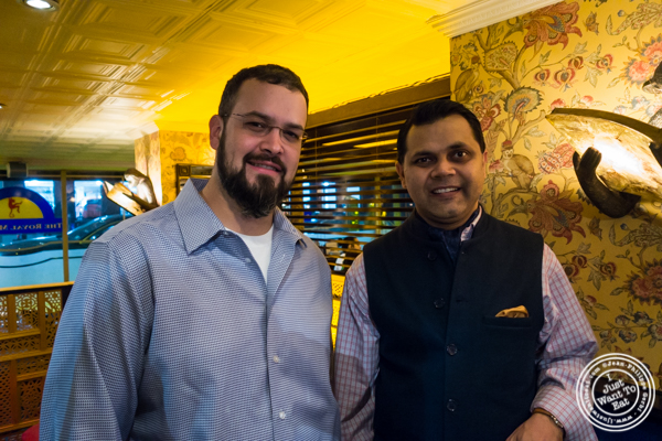 Chef Derik Alfaro and co-owner Arun Mirchandani at The Royal Munkey in NYC, New York