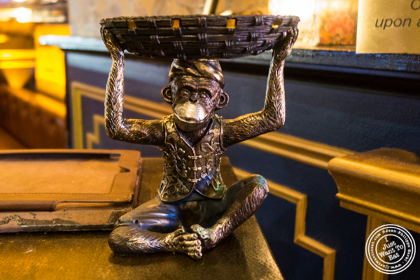 Monkey card holder at The Royal Munkey in NYC, New York
