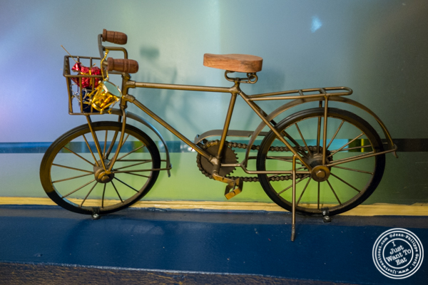 Bicycle replica at The Royal Munkey in NYC, New York