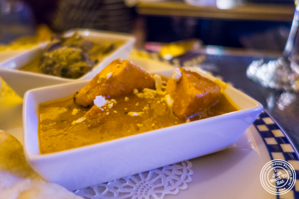 butter Paneer tikka at The Royal Munkey in NYC, New York