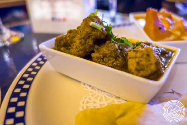Monkfish, a Sindhi dish, at The Royal Munkey in NYC, New York