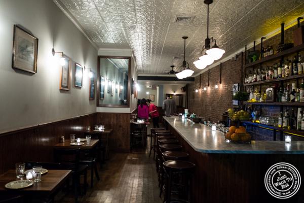 Bar area at Hunter's in Brooklyn, NY