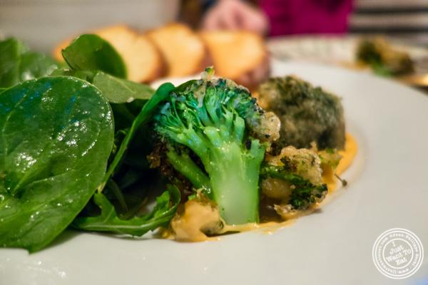 Broccoli tempura at Hunter's in Brooklyn, NY