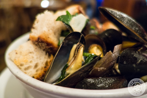 Mussels at Hunter's in Brooklyn, NY