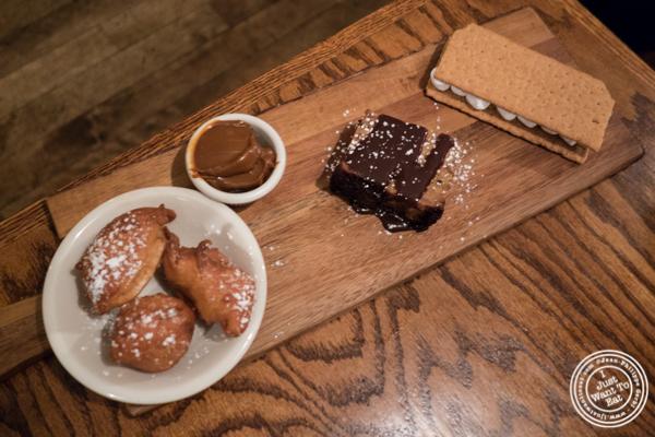 Dessert sampler at Hunter's in Brooklyn, NY