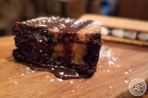 Nutella bread pudding at Hunter's in Brooklyn, NY