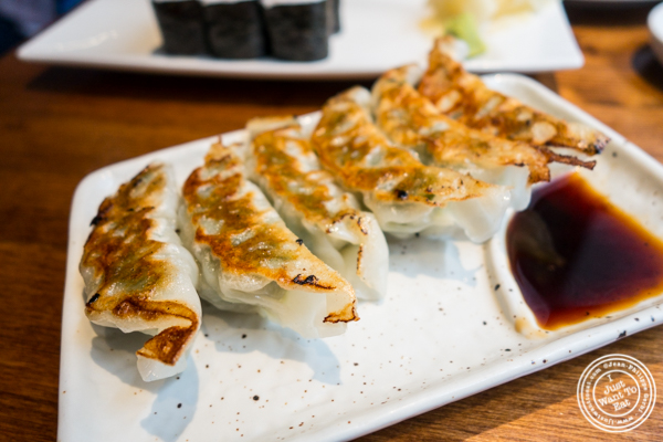 Pork gyoza at Nippori in NYC, NY