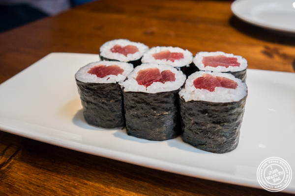 Tuna roll at Nippori in NYC, NY