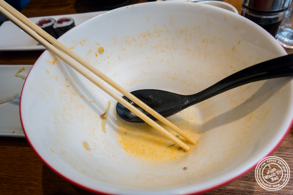 Empty bowl at Nippori in NYC, NY