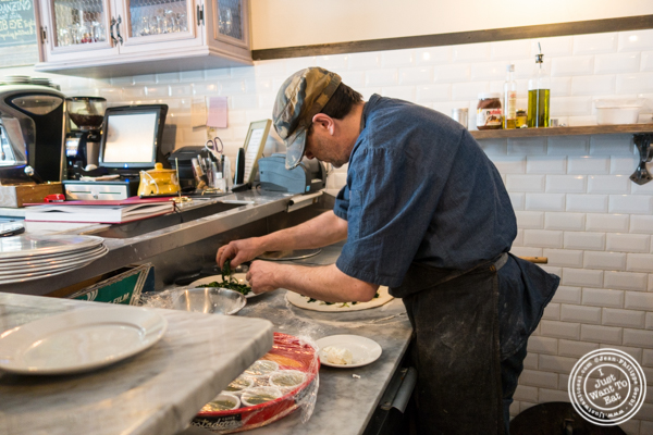 Making pizza at Via Vai in Astoria, Queens