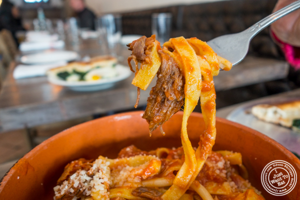 Tagliatelle al sugo di carne at Via Vai in Astoria, Queens