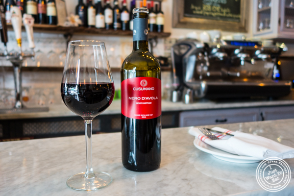 Nero d'Avola 2014 wine at Via Vai in Astoria, Queens