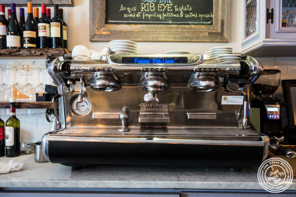 Espresso machine at Via Vai in Astoria, Queens