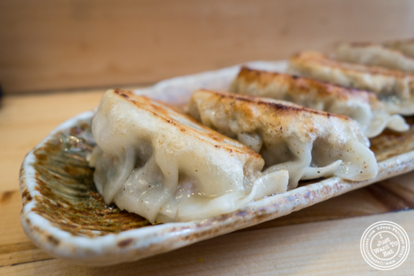 Pork gyoza at Ramen-Ya W4th in NYC, NY