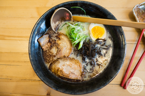Musashi shio black noodles at Ramen-Ya W4th in NYC, NY